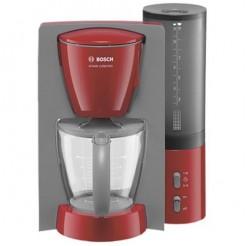 Bosch TKA6024 Rood/Lichtgrijs - Koffiemachine, 1100 Watt