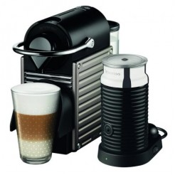 Krups PIXIE XN 301T + Aeroccino 3 - Nespressomaschine, Electric Titan